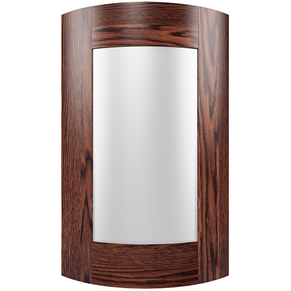"""Мебельный фасад из массива под стекло радиусный модель - """"Широкая рамка"""""""