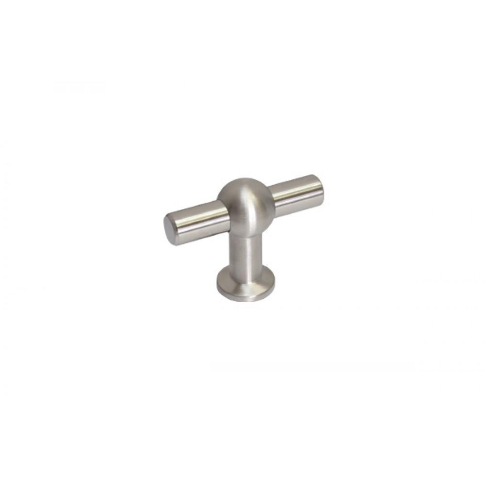 Ручка-кнопка, отделка сталь нержавеющая шлифованная